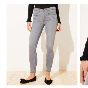NWT Loft grey legging jeans. Size 0 25